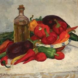 《成熟蔬菜的靜物》斯特凡-迪米特雷斯庫(Stefan Dimitrescu)高清作品欣賞