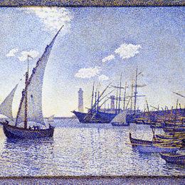 《德塞特港》西奧·凡·萊西爾伯格(Theo van Rysselberghe)高清作品欣賞