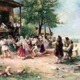 《阿尼諾阿薩圓舞》西奧多·阿曼(Theodor Aman)高清作品欣賞