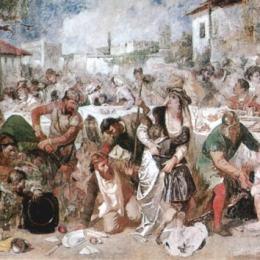 《弗拉德的驚喜》西奧多·阿曼(Theodor Aman)高清作品欣賞
