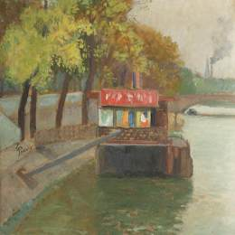 《來自貝爾維爾的塞納碼頭》西奧多·帕拉迪(Theodor Pallady)高清作品欣賞