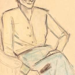 《有扇子的女人》西奧多·帕拉迪(Theodor Pallady)高清作品欣賞