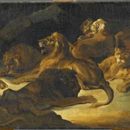 《臥獅》泰奧多爾·席里柯(Theodore Gericault)高清作品欣賞