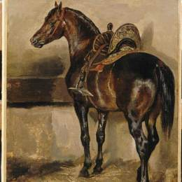 《馬廄里的土耳其馬》泰奧多爾·席里柯(Theodore Gericault)高清作品欣賞
