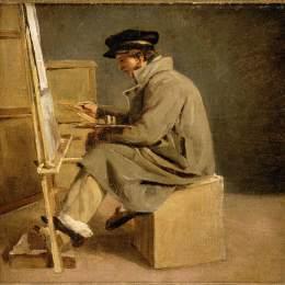 《畫架上的年輕畫家》泰奧多爾·席里柯(Theodore Gericault)高清作品欣賞