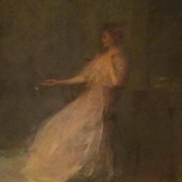 《羅絲夫人》托馬斯·杜因(Thomas Dewing)高清作品欣賞