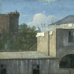 《那不勒斯東北部的建筑物》托馬斯·瓊斯(Thomas Jones)高清作品欣賞