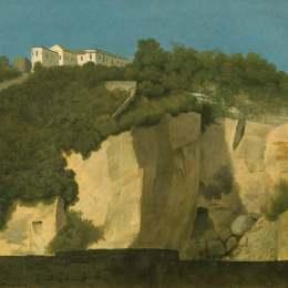 《那不勒斯。在懸崖頂上的建筑》托馬斯·瓊斯(Thomas Jones)高清作品欣賞