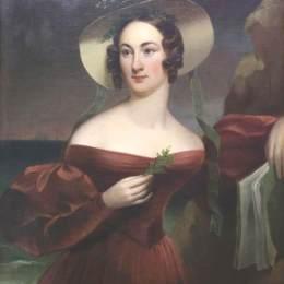 托馬斯·蘇利(Thomas Sully)高清作品:Portrait Of Hannah Seagraves Reeves