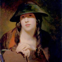 托馬斯·蘇利(Thomas Sully)高清作品:Rosalie Kemble Sully as The Student