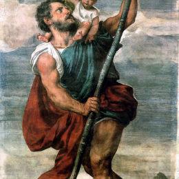 《圣克里斯托弗》提香·韋切利奧(Titian)高清作品欣賞