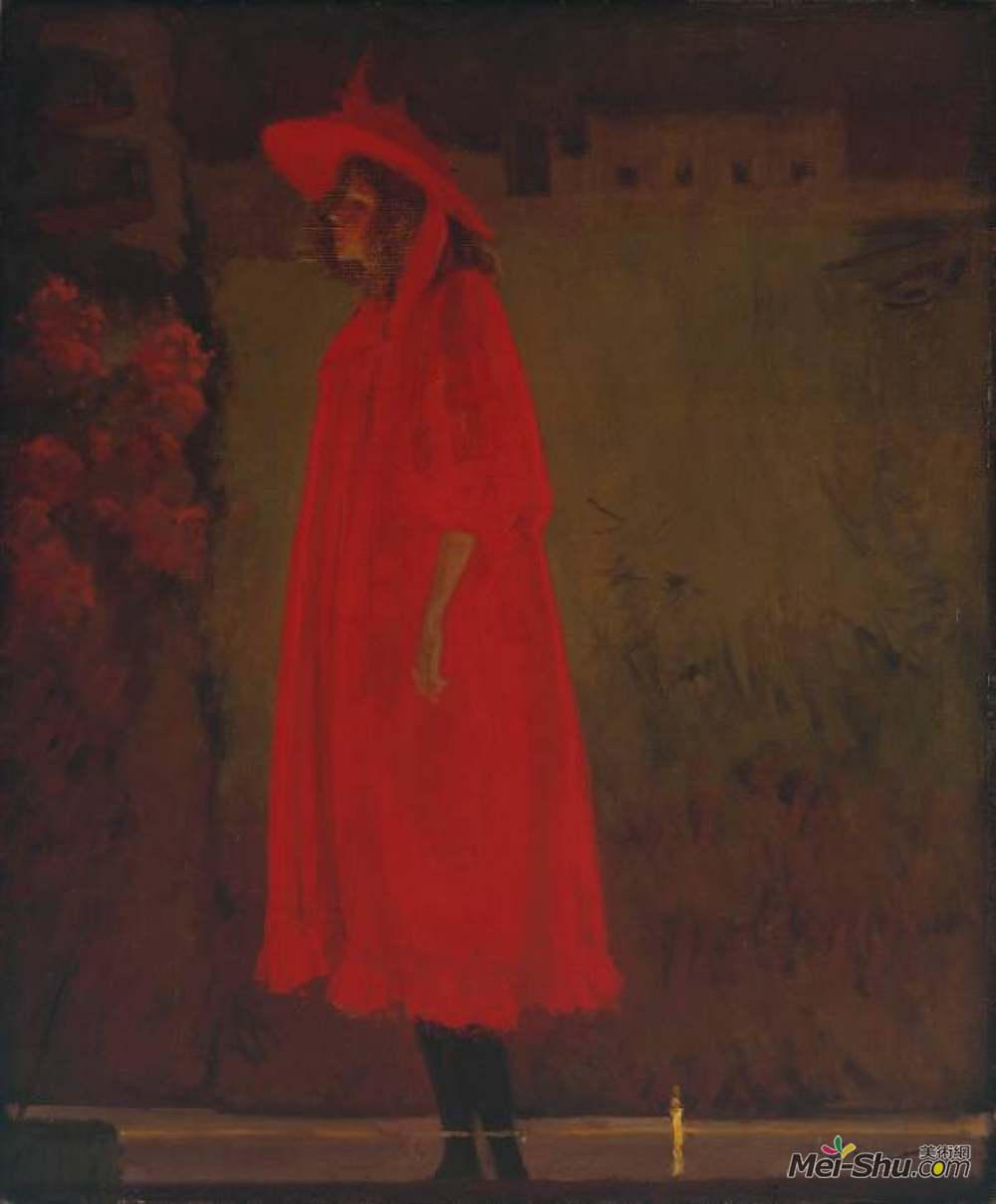 华特·席格(Walter Sickert)高清作品《老贝德福德的米妮坎宁安》