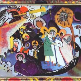 《萬圣節第一天》瓦西里·康定斯基(Wassily Kandinsky)高清作品欣賞