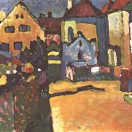 瓦西里·康定斯基(Wassily Kandinsky)高清作品:Grungasse in Murnau