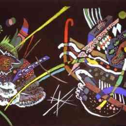 瓦西里·康定斯基(Wassily Kandinsky)高清作品:Draft for Mural In The Unjuried Art Show, Wall B