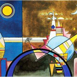 瓦西里·康定斯基(Wassily Kandinsky)高清作品:Picture XVI,  The Great Gate of Kiev. Stage set for Mussorgs