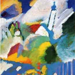 《穆爾瑙與教堂》瓦西里·康定斯基(Wassily Kandinsky)高清作品欣賞