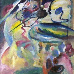 《畫圓》瓦西里·康定斯基(Wassily Kandinsky)高清作品欣賞