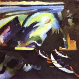 《乘船旅行》瓦西里·康定斯基(Wassily Kandinsky)高清作品欣賞