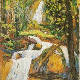 瓦西里·康定斯基(Wassily Kandinsky)高清作品:Kochel: Waterfall I
