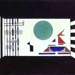 瓦西里·康定斯基(Wassily Kandinsky)高清作品:Picture II, Gnomus. (Stage set for Mussorgskys Pict
