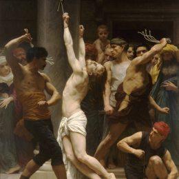 《我們的主耶穌基督的鞭..》威廉·阿道夫·布格羅(William-Adolphe Bouguereau)高清作品欣賞