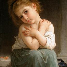 《寒冷的》威廉·阿道夫·布格羅(William-Adolphe Bouguereau)高清作品欣賞