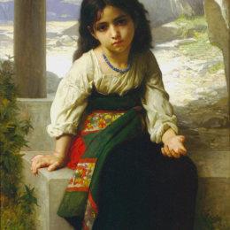 《小乞丐》威廉·阿道夫·布格羅(William-Adolphe Bouguereau)高清作品欣賞