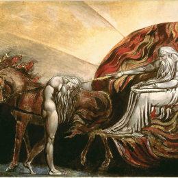 《上帝審判亞當》威廉·布萊克(William Blake)高清作品欣賞