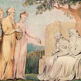 《接受工作的慈善組織》威廉·布萊克(William Blake)高清作品欣賞