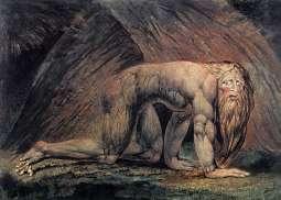 《尼布甲尼撒》威廉·布莱克(William Blake)高清作品欣赏