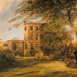 威廉·柯林斯(William Collins)高清作品:View of Sir David Wilkies House in Vicarage Place,