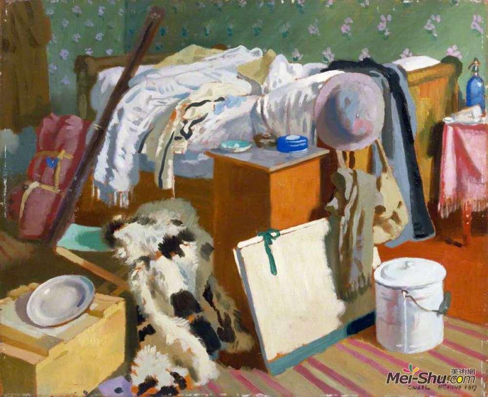 威廉·奥宾(William Orpen)高清作品《我的工作室,卡塞尔》