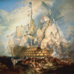 《特拉法爾加海戰》約瑟夫·馬洛德·威廉·透納(J.M.W. Turner)高清作品欣賞