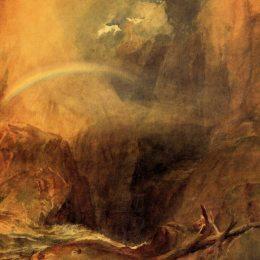《魔鬼橋,圣哥達德》約瑟夫·馬洛德·威廉·透納(J.M.W. Turner)高清作品欣賞