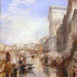 《大運河場景,威尼斯的一條街》約瑟夫·馬洛德·威廉·透納(J.M.W. Turner)高清作品欣賞