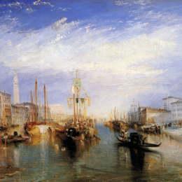 《威尼斯大運河,由威廉米勒雕刻而成》約瑟夫·馬洛德·威廉·透納(J.M.W. Turner)高清作品欣賞