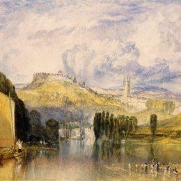 《托特尼鏢,在河》約瑟夫·馬洛德·威廉·透納(J.M.W. Turner)高清作品欣賞