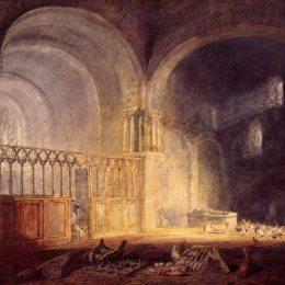 《伊文尼修道院,格拉摩根郡》約瑟夫·馬洛德·威廉·透納(J.M.W. Turner)高清作品欣賞