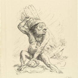 阿尔弗雷德·库宾(Alfred Kubin)高清作品:Caliban from the portfolio Visions of Shakespeare (Shakespea