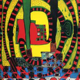 佛登斯列·汉德瓦萨(Friedensreich Hundertwasser)高清作品:652 Jorney II and travel by rail