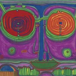 佛登斯列·汉德瓦萨(Friedensreich Hundertwasser)高清作品:563A Spectacles in the Small Face