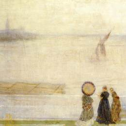 詹姆斯·阿博特·麦克尼尔·惠斯勒(James McNeill Whistler)高清作品:Battersea Reach from Lindsey Houses