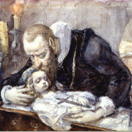扬·马泰伊科(Jan Matejko)高清作品:Jan Kochanowski over the dead body of his daughter