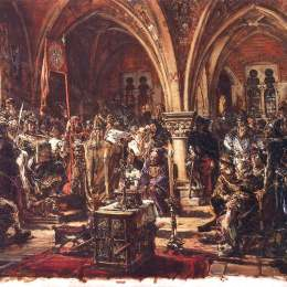 扬·马泰伊科(Jan Matejko)高清作品:The First Sejm, Recording of laws  A D  1182