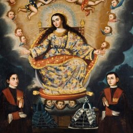马科斯·萨帕塔(Marcos Zapata)高清作品:Seated Madonna with Graduation of the García Brothe