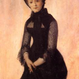 威廉·梅里特·切斯(William Merritt Chase)高清作品:Portrait of Harriet Hubbard Ayer