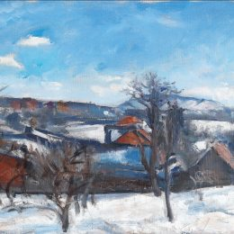 沃伊切赫·维斯(Wojciech Weiss)高清作品:Winter Landscape in Kalwaria